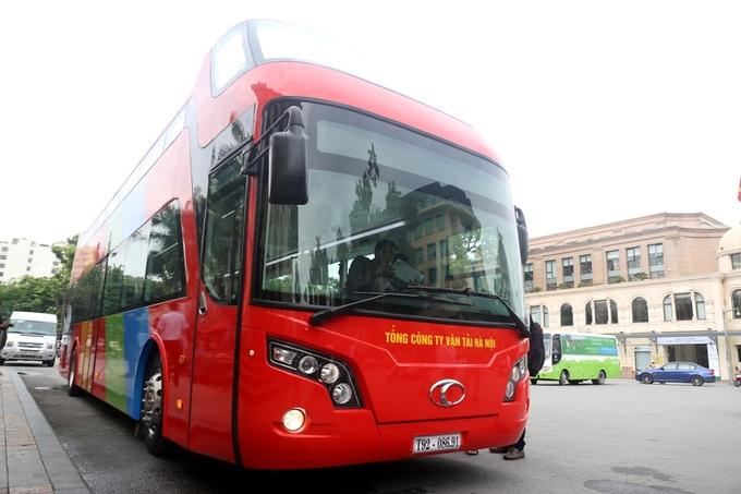 Xe bus 2 tầng chạy tại Hà Nội