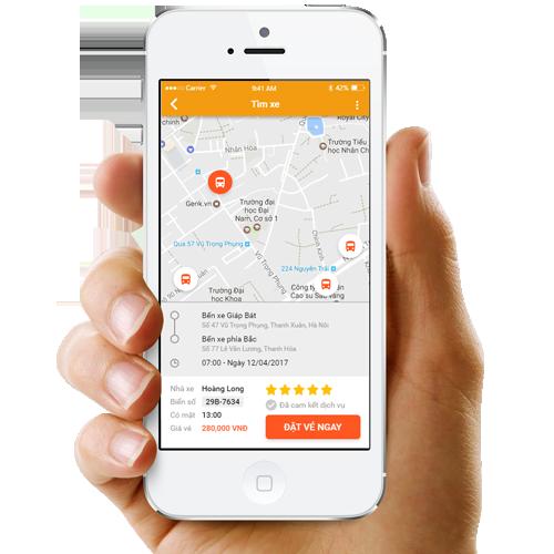 Phần mềm bán vé ANVUI chạy trên điện thoại của khách hàng
